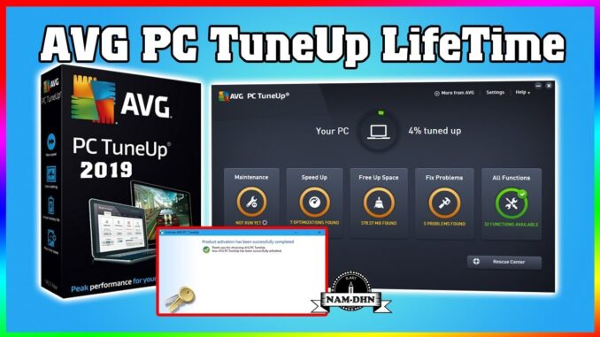 AVG PC Tuneup Activation Code / Product Key / Serial Key