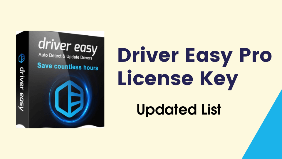 Driver Easy Pro Activation Code / Product Key / Serial Key